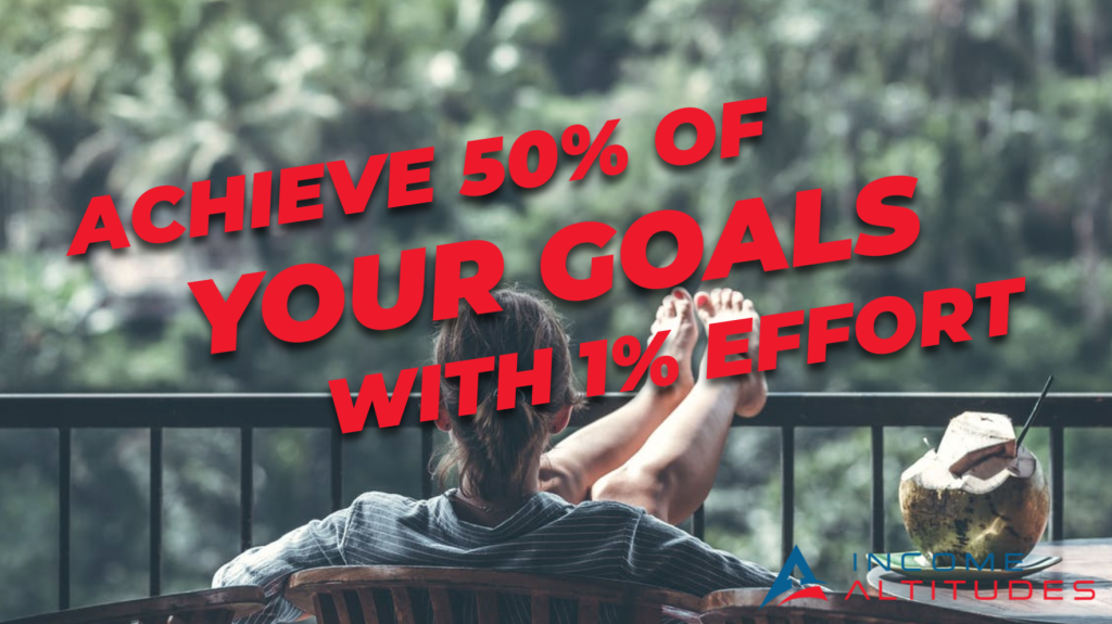 How To Achieve 50% Of Your Goals With 1% Of The Effort [Video]